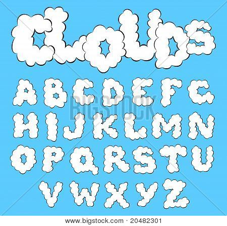 Clouds alphabet