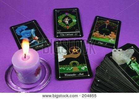 Tarot Cards And Candle