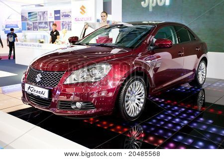 Moscow, Russia - August 25:  Red Car Suzuki  Kizashi At Moscow International Exhibition Interauto On