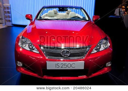 Moscow, Russia - August 25: Red Car Lexus Is 250 C At Moscow International Exhibition Interauto On A