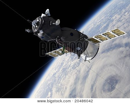 Spaceship on the orbit