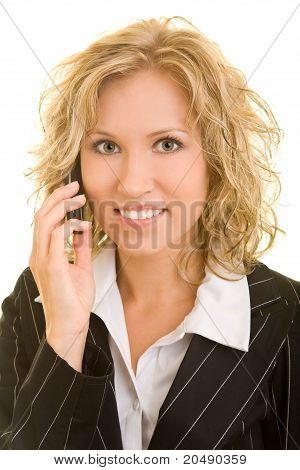 Empresaria en el teléfono