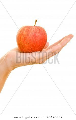 Hand Offering An Apple