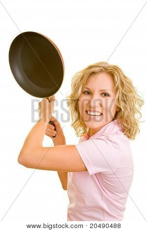 Woman Hitting With Frying Pan