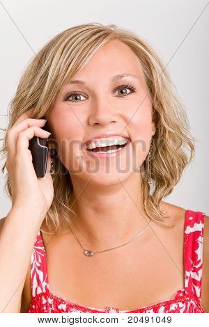 Happy Woman On The Phone
