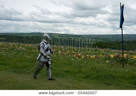 wandering knight in armor