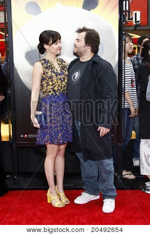 "LOS ANGELES - MAY 22:  Jack Black & Wife arriving at the ""Kung Fu Panda 2"" Los Angeles Premiere at Grauman's Chinese Theatre on May 22, 2011 in Los Angeles, CA"