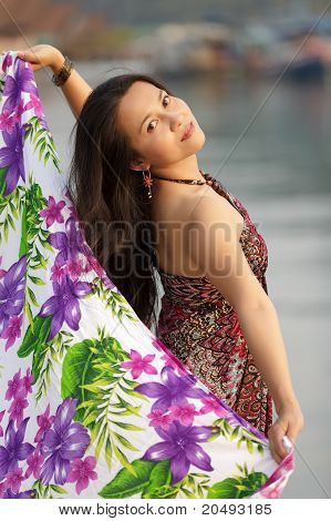 Elegant Asian Woman