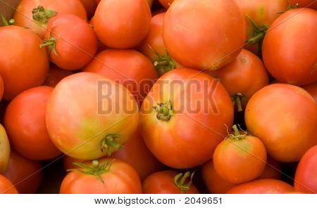 Assortment Of Tomatoes At A Farmer'S Market.