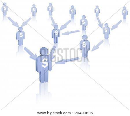 Affiliate program. Affiliate marketing. Vector illustration