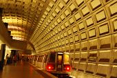 stock photo of rosslyn  - Rosslyn Metro where the orange and blue line run in Arlington Virginia - JPG