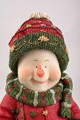Christmas Snowman Close-Up