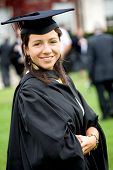 Female Graduating At University