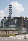 picture of radium  - Chernobyl atomic nuclear power station in Ukraine - JPG