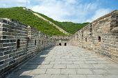 stock photo of qin dynasty  - Great Wall of China at Mutianyu  - JPG