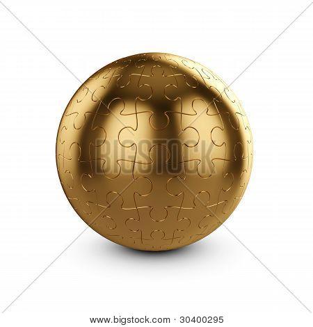 Golden Puzzle Sphere