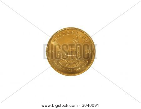 Krugerrand gold bullion coin.