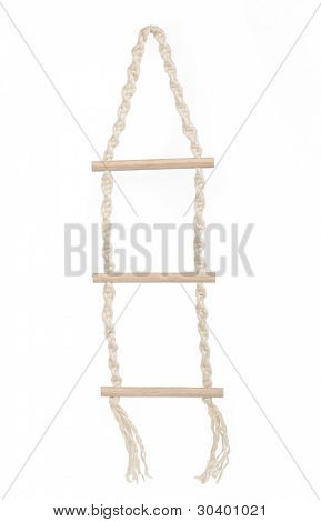 Rope ladder, isolated on white