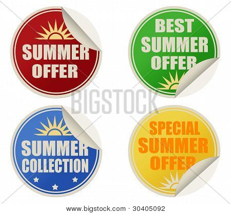 Best Summer Offers Stickers Set
