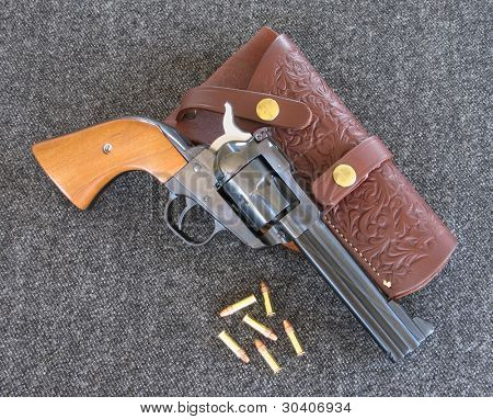 "22 caliber ""Single Six"" revolver"
