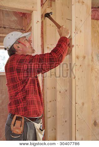 Carpenter building interior partition