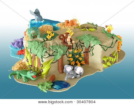 Number 4 Birthday Cake Template http://www.bigstockphoto.com/image-30407804/stock-photo-birthday-cake,-shaped-like-the-number-four,-decorated-with-edible-animals-from-the-jungle-and-the-se