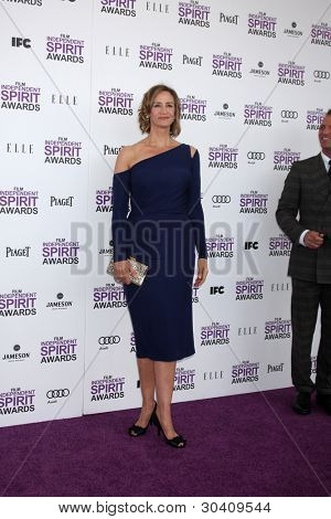 LOS ANGELES - FEB 25:  Janet McTeer arrives at the 2012 Film Independent Spirit Awards at the Beach on February 25, 2012 in Santa Monica, CA