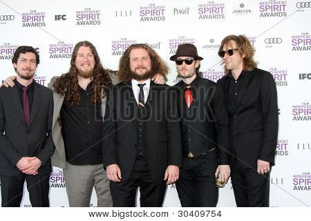 LOS ANGELES - FEB 25:  My Morning Jacket arrives at the 2012 Film Independent Spirit Awards at the Beach on February 25, 2012 in Santa Monica, CA