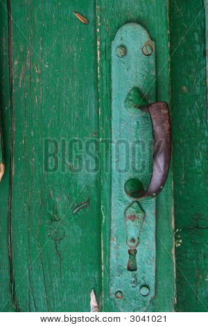 Old Colloresed Doorhandle