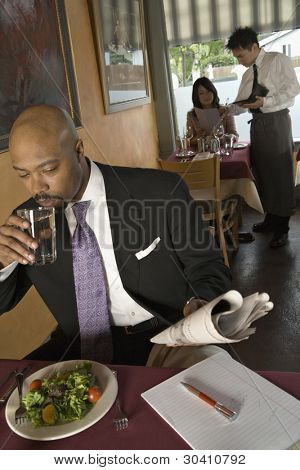 People eating in restaurant
