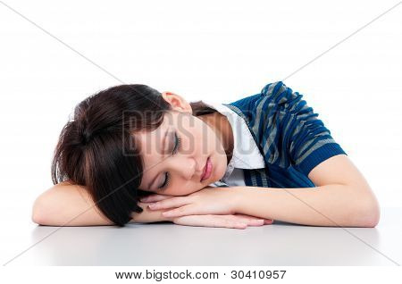 Young Woman Sleeping Gracefully