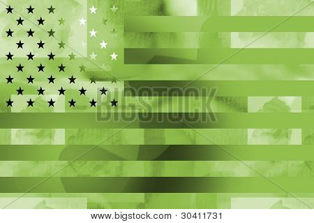 Military styled american flag