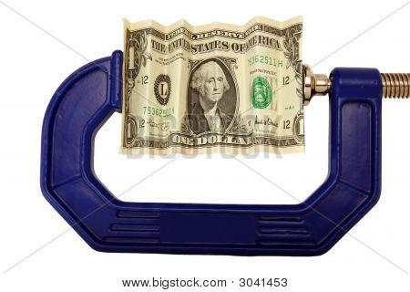 Dollarschein eingeklemmt In Clamp