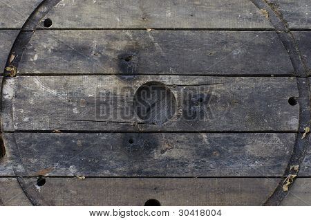 Wooden slat with around hole