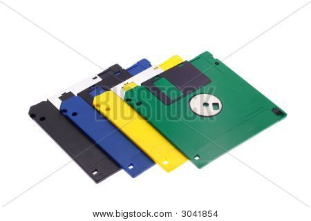 Multi-Coloured Diskettes