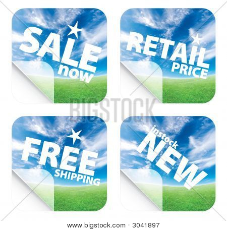 Beautiful Blue Sky Horizon Stickers