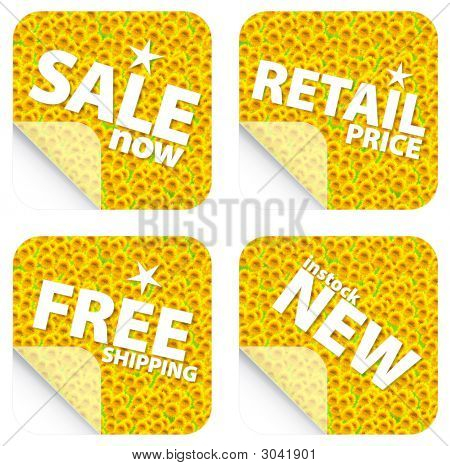 Sunflower Retail Stickers