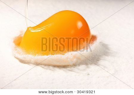 Mix together one egg and flour