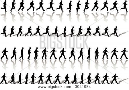 Business Man Frame Sequence Loops Run & Power Walk.Eps