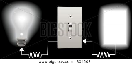Light Bulb Light Switch Circuit Electric Background.Eps