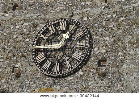 Reloj de la iglesia en Flintstone pared