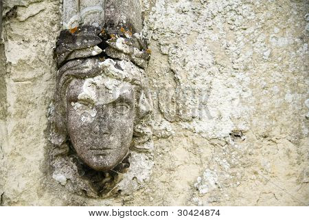 Old Wall Detail Carved Relief