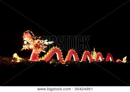 Festival dragon lanterns