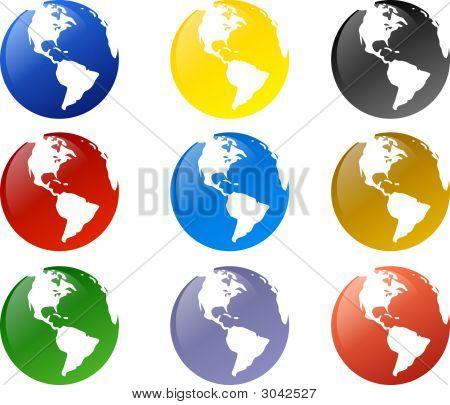 Various Globe Illustrations