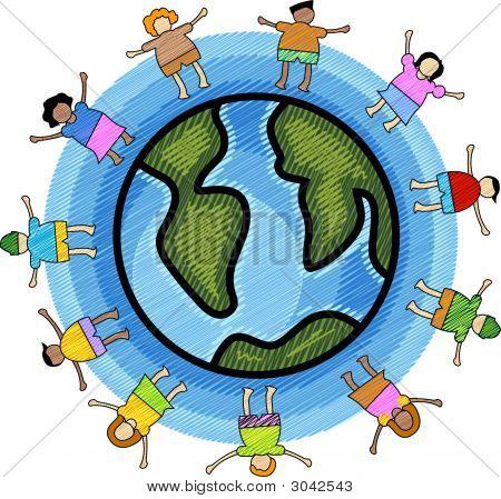 Crianças multiculturais