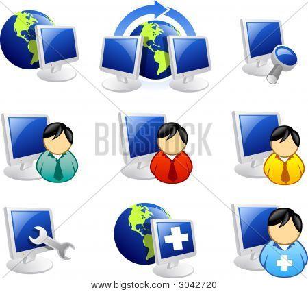 Icono de Internet y la web