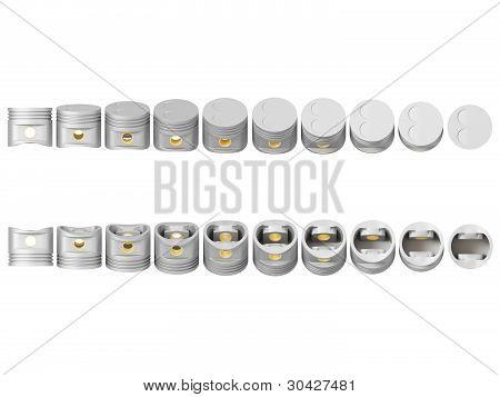 Pistons rotary