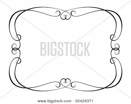calligraphy ornamental penmanship decorative frame