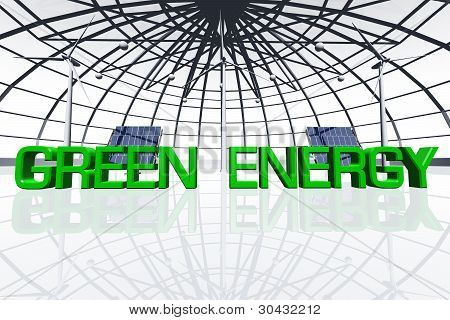 Green Energy Concept 3D render