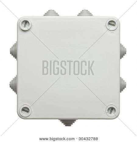 Plastic box for electrical network connecting.
